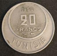 TUNISIE - TUNISIA - 20 FRANCS 1950 - KM 274 - Muhammad Al-Amin - Protectorat Français - Tunisia