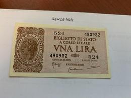 Italy 1 Lira Banknote 1944 #1 - Italia – 1 Lira