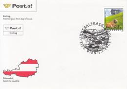 AUSTRIAN HOLIDAYS, INNERALPBACH  COVER FDC, 2002, AUSTRIA - FDC