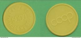 Gettoni Tokens Pièce De Monnaie 5000 Lire Modena Coop Plastica  Plastica Plastique - Monétaires/De Nécessité