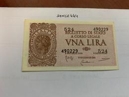 Italy 1 Lira Banknote 1944 #2 - Italia – 1 Lira