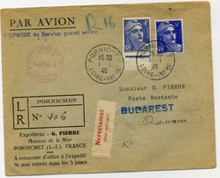 SERVICE POSTAL AERIEN - 1927-1959 Lettres & Documents