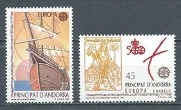 Andorre Espagnol YT N°216/217 Europa 1992 Découverte De L'Amérique Par Christophe Colomb Neuf ** - Europa-CEPT