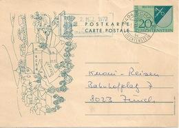 PK  Schaan - Zürich           1972 - Stamped Stationery