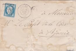 N° 60C S / L Complète Sans Texte GC 785 + T 17 Cauro 18 Oct 74 + OR Pour Ajaccio, Corse - Marcophilie (Lettres)