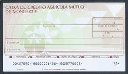 Raro Cheque Da Caixa De Crédito Agricola Mútuo De Monchique, Algarve. Rare Check From Caixa Crédito Agricola Monchique - Chèques & Chèques De Voyage