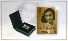 M ++ NEDERLAND NETHERLANDS 2020 ANNE FRANK GOLDEN STAMP LIMITED EDITION   ++ MNH POSTFRIS - Unused Stamps