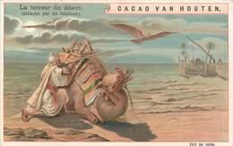 CHROMOS - CACAO VAN HOUTEN - LA TERREUR DU DESERT - Vieux Papiers