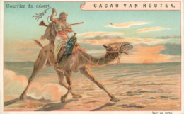 CHROMOS - CACAO VAN HOUTEN - COURRIER DU DESERT - Vieux Papiers