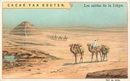CHROMOS - CACAO VAN HOUTEN - LES SABLES DE LA LIBYE - Vieux Papiers