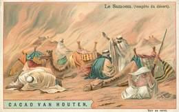 CHROMOS - CACAO VAN HOUTEN - LE SAMOEM - TEMPETE DU DESERT - Vieux Papiers