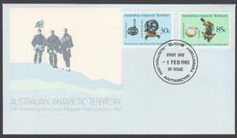 AUSTRALIE AAT 1984 FDC Expédition Pôle Sud 75ème Anniv. - FDC