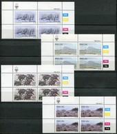 SWA Mi# 541-4 Satz Zylinderstreifen Postfrisch/MNH Controls - Fauna + Landscape Paintings - South West Africa (1923-1990)