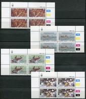SWA Mi# 545-8 Satz Zylinderblocks Postfrisch/MNH Controls - Fauna Lobster Industry - South West Africa (1923-1990)