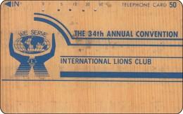 Japan Phonecard LIONS Club Wood Printing - Telefoonkaarten