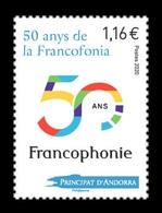 Andorra (FR) 2020 Mih. 862 Francofonia MNH ** - Unused Stamps