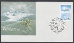 AUSTRALIE AAT 1986 FDC 25ème Anniv. Du Traité - FDC