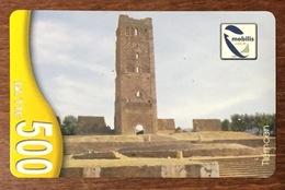 ALGERIE TLEMCEN TELECOM MOBILIS RECHARGE GSM 500 DINARS PHONECARD PRÉPAYÉE PREPAID - Argelia