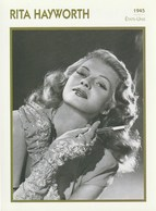 Cinéma Américain. Photographie. Rita Hayworth. Biographie. Filmographie. Portrait De Star. Encyclopédie Du Cinéma. - Beroemde Personen