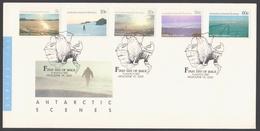 AUSTRALIE AAT 1987 FDC Vues Du Territoire Série III - FDC