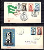 Europa Année 1956 Complète Sur Enveloppes FDC Oblitérations 1er Jour. TB. A Saisir! - Europa-CEPT