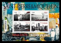 St. Pierre And Miquelon 2020 Mih. 1328/31 (Bl.40) Life Scenes MNH ** - Nuovi