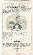 LIEGE / LIMONT / PARIS - Baron Hyacinthe De MACORS - Bourgmestre  - époux Baronne M. T. D'OTHEE De LIMONT - Décédé 1847 - Images Religieuses