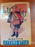 PLAQUE PUBLICITAIRE   BISCUITS LU        CARTEXPO  PARIS - Plaques En Tôle (après 1960)