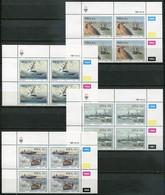SWA Mi# 613-6 Satz Zylinderblocks Postfrisch/MNH Controls - Shipwrecks - South West Africa (1923-1990)