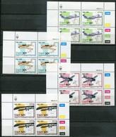 SWA Mi# 637-40 Satz Zylinderblocks Postfrisch/MNH Controls - Aviation, Planes, Maps - South West Africa (1923-1990)