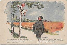 L130A976 - Gamin Perché Dans Un Arbre - Gendarme - 14 Juillet 1916 - Humour