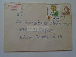 ZA281.1  POLAND Cover Exprés  To Hungary Christopher Copernicus - Briefe U. Dokumente