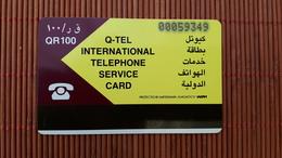 Phonecard Quatar  QR 100 Used  Rare - Qatar