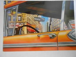 CP THEMES /TRANSPORTS/ AUTOMOBILE/ NEW YORK TAXI / L.RIGO  - Grande Carte De 17 X 12cm - Taxi & Carrozzelle