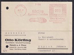 DR. Reklame-Karte, Mit Freistempel Körting Gummi-Sohlen Hammeln - Germany