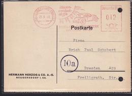 DR. Reklame-Karte, Mit Freistempel Herman Herzog & CO. A.G Neugersdorf  - Germany