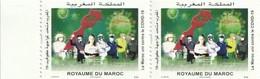 Maroc. Timbres. Bloc De 2 Timbres 2020. Fonds Covid-19. 3.75 + 5 Dh. - Enfermedades