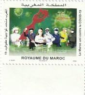 Maroc. Timbre  2020. Fonds Covid-19. 3.75 + 5 Dh. - Enfermedades