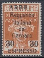 ITALIA - ARBE - Espresso N.1  Cat.  550 Euro - Linguellato - MH* - Certificato - 8. WW I Occupation
