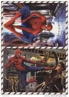 3AD1142 Lot De 2 Cartes SUPER MAN  2 SCANS - Affiches Sur Carte