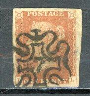GB   Y&T   3     Obl    ---    4 Belles Marges --  Bon état - 1840-1901 (Victoria)