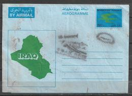 USED AIR MAIL AEROGRAMME IRAQ CONDITION AS PER SCAN - Iraq