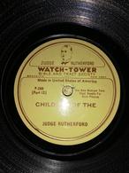 Très Rare 78 Rpm Tour Jéhovah Watch Tower Judge Rutherford SOCIÉTÉ DE BIBLE P-288 P-286 - Formatos Especiales