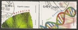 2009-ED. 4455 Y 4456-CIENCIA.BOTÁNICA Y GENÉTICA-SERIE COMPLETA -USADO - 1931-Hoy: 2ª República - ... Juan Carlos I