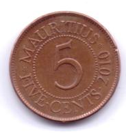 MAURITIUS 2010: 5 Cents, KM 52 - Mauritius