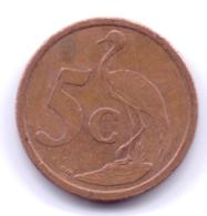 SOUTH AFRICA 2004: 5 Cents, KM 325 - Afrique Du Sud