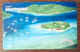 BRITISH VIRGIN ISLANDS CCT BOATPHONE 20$ PREPAID PRÉPAYÉE EURO PHONECARD CARD - Islas Virgenes