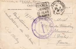 Cachet Militaire 517e Regiment Chars De Combat Sur Carte Meknes Maroc 1926 - Poststempel (Briefe)