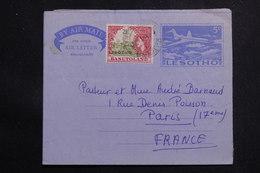 LESOTHO - Aérogramme Pour La France , Complément D'affranchissement Surchargé - L 61005 - Lesotho (1966-...)