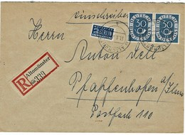 1953, Nr. 132, Waagerechtes Paar, Mi. 450.-   , A3823 - Brieven En Documenten
